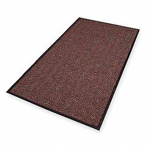 Carpeted Entrance Mat,Brown,3ft. x 5ft.