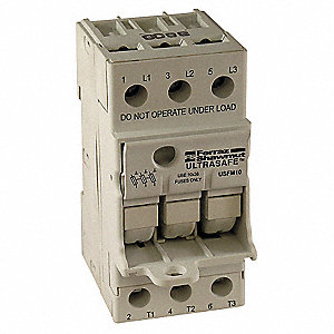 FUSE HOLDER,30A AC,600V,3POLE,FINGE
