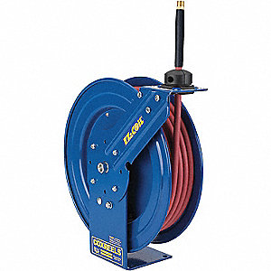 "1/4"", 25 ft. Spring Return Hose Reel, 300 psi Max. Pressure"