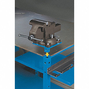 Vise and Vise Mount,7W x 14D x 12H,Gray