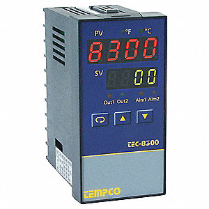 Temperature Controller, 1/8 DIN Size, 90 to 264VAC Input Voltage, Switch Function: