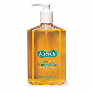 Antibacterial Soap, Unscented Fragrance, 8 oz., PK 12