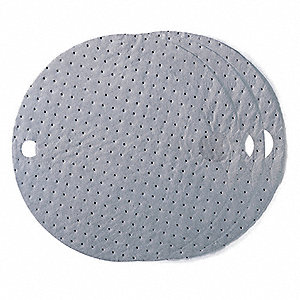 "22"" Light Drum Top Absorbent Pad for Universal / Maintenance, Gray&#x3b; PK25"