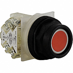 Non-Illuminated Push Button, Type of Operator: Extended Button, Size: 30mm, Action: Momentary Push