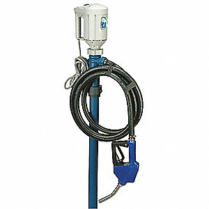 4/5 HP Polypropylene Piston Electric Operated Drum Pump, 10 GPM, 3500 to 10,000 RPM