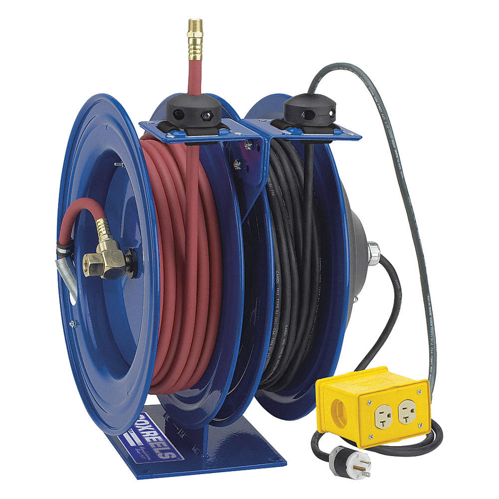 COXREELS Combination Air/Electric Reel, 20 Amps, 12 Wire Gauge (AWG ...
