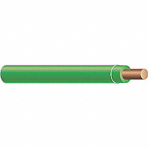 Building Wire,THHN,12 AWG,Green,2500ft
