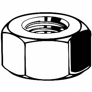 M36-4.00 Hex Nut, Black Oxide Finish, Class 10 Steel, Right Hand, DIN 934, EA1