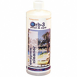 Pool and Spa Liquid Enzyme Cleaner, 1 EA
