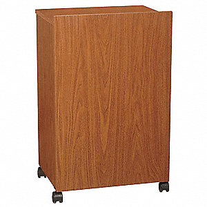 Lectern,Floor,Walnut,33 In.H