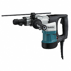 Spline Rotary Hammer Kit, 12.0 Amps, 1300 to 2600 Blows per Minute, 120 Voltage