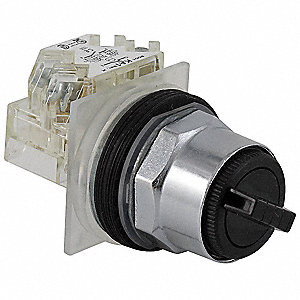 Non-Illuminated Selector Switch, Size: 30mm, Position: 2, Action: Momentary / Maintained