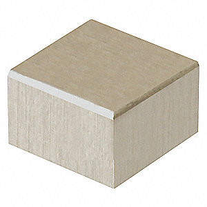 "Clear Anodized Aluminum Square Standoff Cap, 1/8"" Height - Standoff Caps, Package Quantity 2"