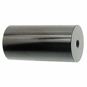 "4"" Aluminum Round Standoff with Black Anodized Finish, Black&#x3b; PK2"