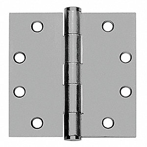 "4-1/2"" x 1-25/32"" Butt Hinge with Prime Coat Finish, Full Mortise Mounting, Square Corners"