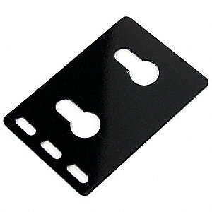 Dual PDU Button Mount Bracket, Sheet Steel, Black Finish, For Use With: Server and Network Cabinets