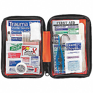 First Aid Kit,Bulk,Orange,107Pcs,1 Ppl