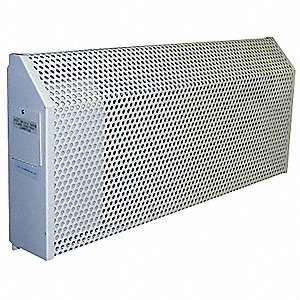 Electric Baseboard Heater, Institutional, 208VAC, Amps AC 9.62, 1 Phase, BtuH 6826