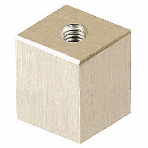 "1-1/2"" Aluminum Square Standoff with 1/4-20 Screw Size, Silver"