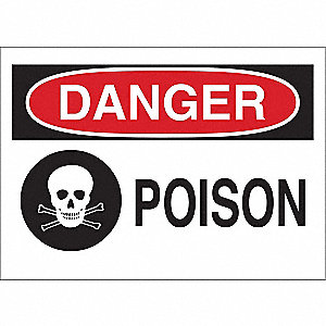 Safety Sign Label,3-1/2 In. H,5 In. W