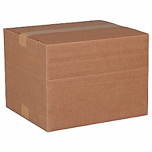 "Multidepth Shipping Carton, Brown, Inside Width 12"", Inside Length 16"", Inside Depth 10"", 65 lb."