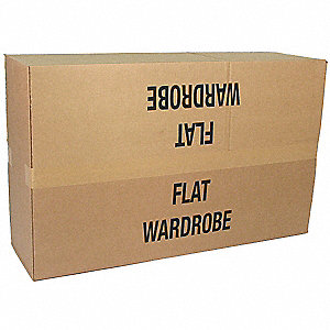 "Shipping Carton, Brown, Inside Width 18"", Inside Length 40"", Inside Depth 8"", 65 lb., 1 EA"