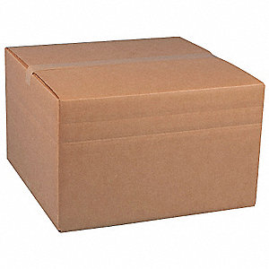 "Multidepth Shipping Carton, Brown, Inside Width 20"", Inside Length 20"", Inside Depth 12"", 100 lb."