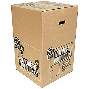 "Shipping Carton, Brown, Inside Width 18"", Inside Length 18"", Inside Depth 28"", 65 lb., 1 EA"
