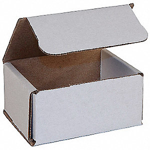Mailing Carton,3-1/2 In. L,White,PK 50