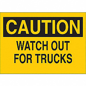"Road Traffic Control, Caution, Polyester, 7"" x 10"", Not Retroreflective"