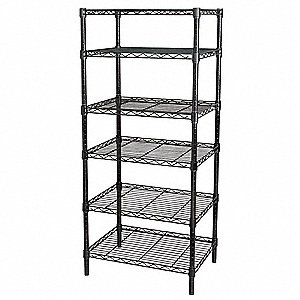 Wire Shelving,63x60x18,6 Shelf,Black