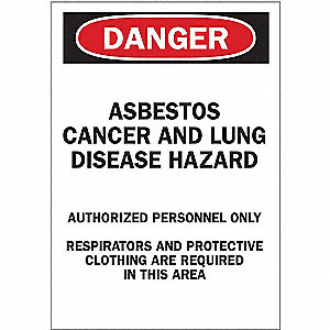 Danger Sign,14 x 10In,R and BK/WHT,ENG