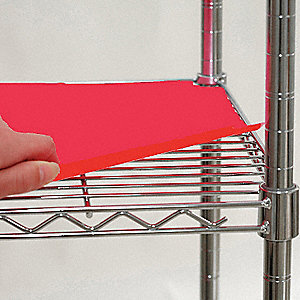 "48"" x 18"" Plastic Shelf Liner, Red&#x3b; PK4"