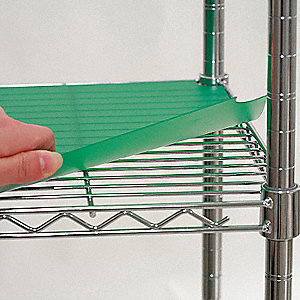 "72"" x 18"" Plastic Shelf Liner, Green&#x3b; PK4"