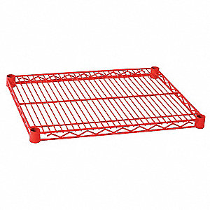 Wire Shelf,48 x 18 in.,Red
