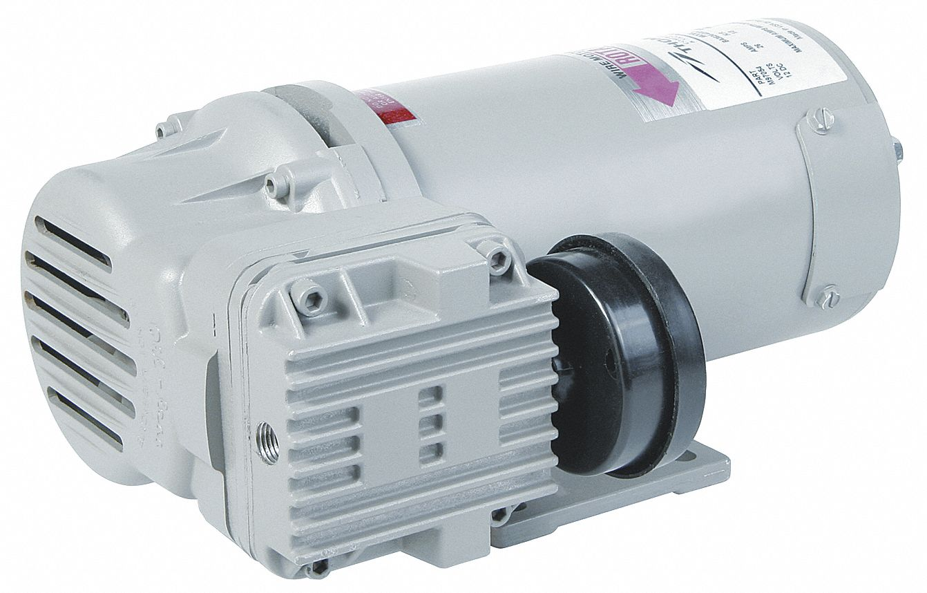 1/3 hp HP Piston Air Compressor, 24V DC, -/100 Max. PSI Cont./Int.