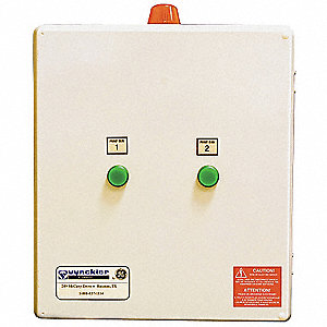 Alternating Duplex Control Panel Motor/Pump Control Box, 208/240/480V, 2.5 to 4 Amps