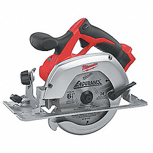 "6-1/2"" Cordless Circular Saw, 18.0 Voltage, 3500 No Load RPM, Bare Tool"