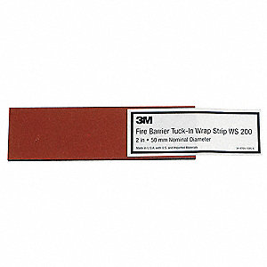 Fire Barrier Wrap Strip,8-1/4 In. L,PK24