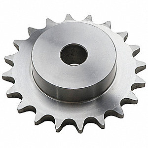 Plain Bore Roller Chain Sprocket, For Industry Chain Size: 25, 17 Number of Teeth