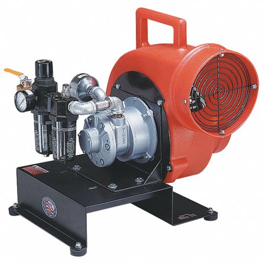 Confined Space Centrifugal Blower,  8 in Duct Dia.,  1/4 hp HP,  24 in Length,  22 in Width