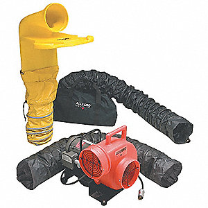 Centrifugal Explosion Proof Confined Space Blower Kit, 3/4 HP, 115/230VAC Voltage, 1725 rpm Blower/F