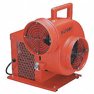 Centrifugal Confined Space Blower, 1/3 HP, 115VAC Voltage, 1725 rpm Blower/Fan Speed