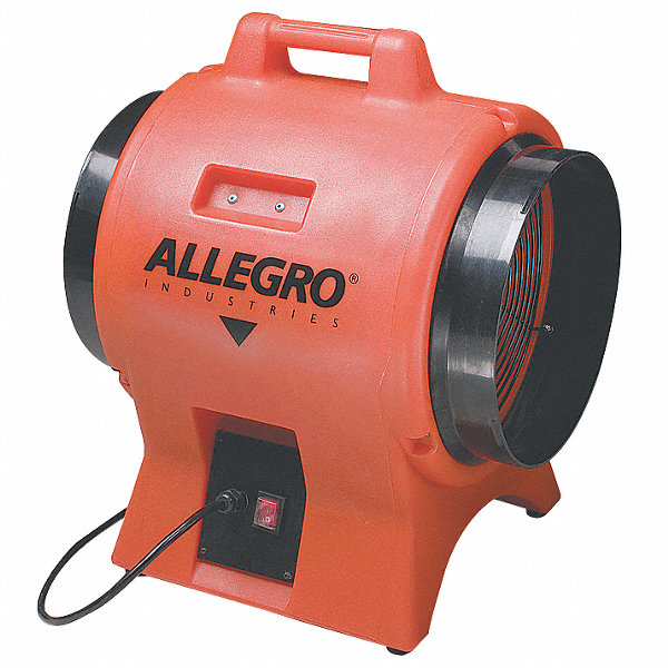 Confined Space Blowers And Fans : Allegro axial confined space fan hp vac voltage