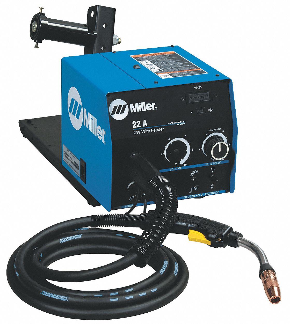 MILLER ELECTRIC 24A Wire Feeder,w/Digital Display,Gun - 5GWN4 951194 ...