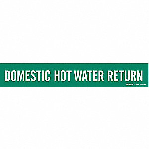 Pipe Marker,Domestic Hot Water Return,Gn