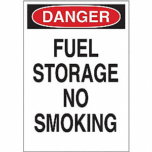 Danger No Smoking Sign,14 x 10In,ENG