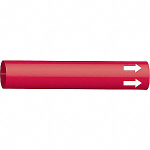 Pipe Marker,(Blank),Red