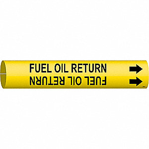 Pipe Mrkr, Fuel Oil Return, 1-1/2to2-3/8In