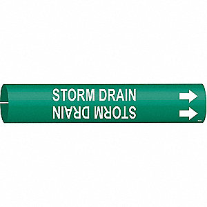Pipe Marker,Storm Drain,1-1/2to2-3/8 In